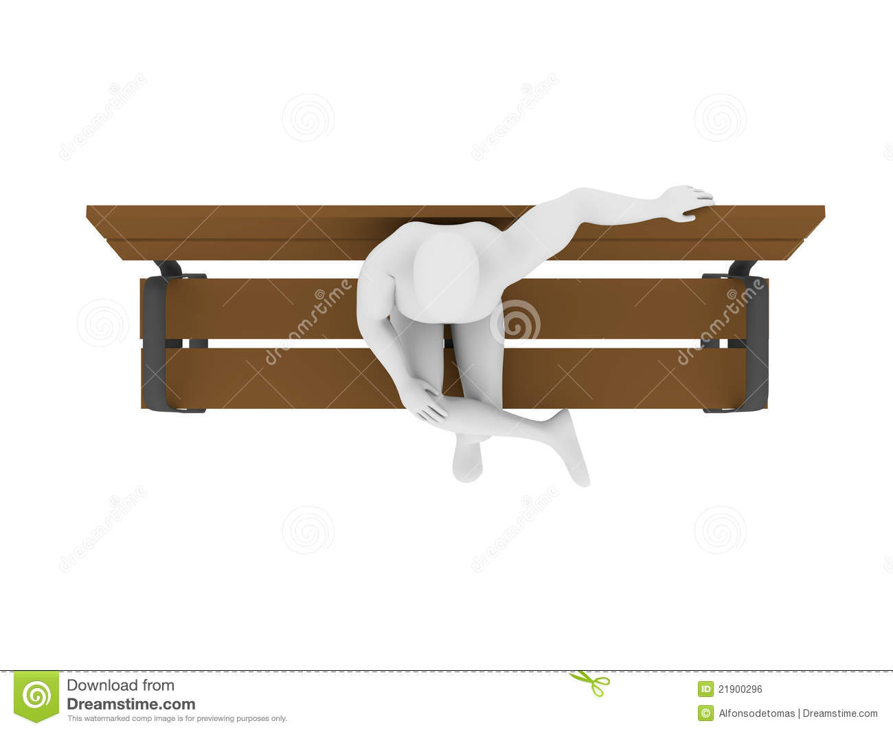 Top View Of A Man Sitting Stock Illustration Image Of
