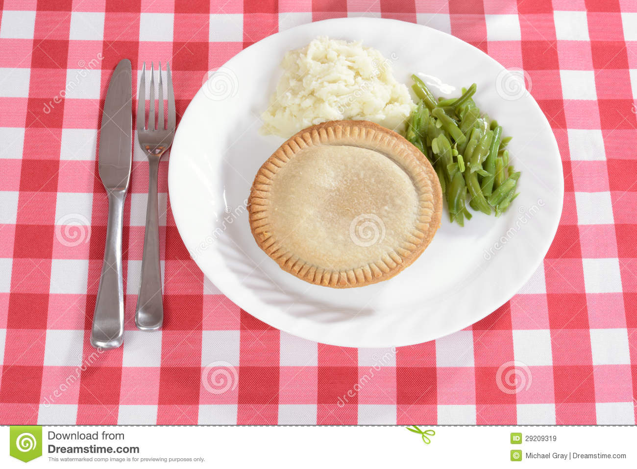 Top View Meat Pie With...