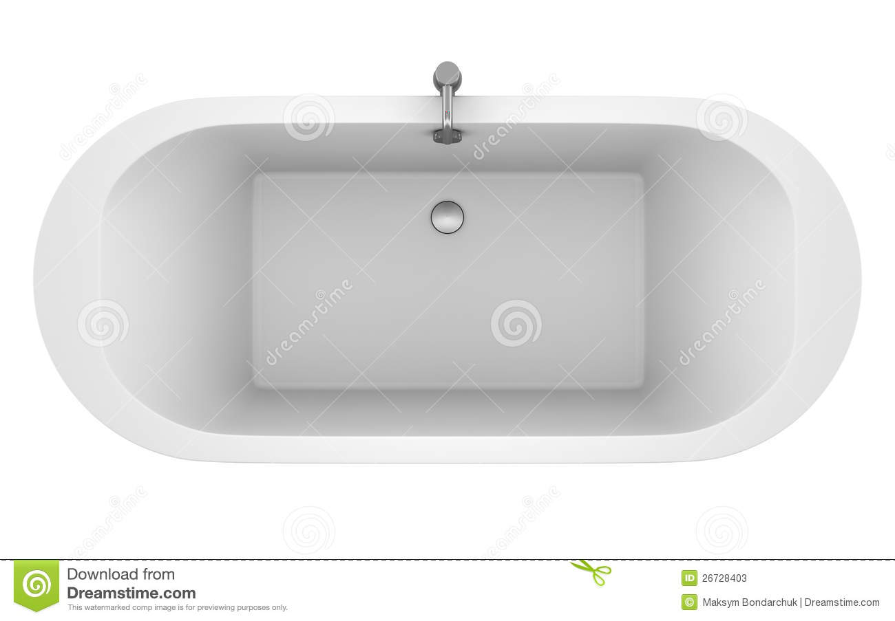 Top view of modern bathtub isolated on white stock photos for What is the best bathtub