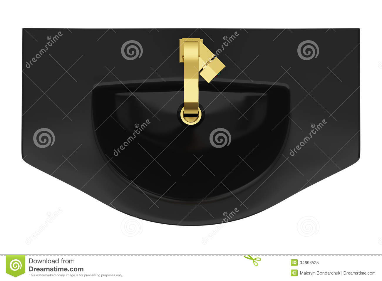 Bathroom sink top view - Top View Of Modern Black Bathroom Sink Isolated On White