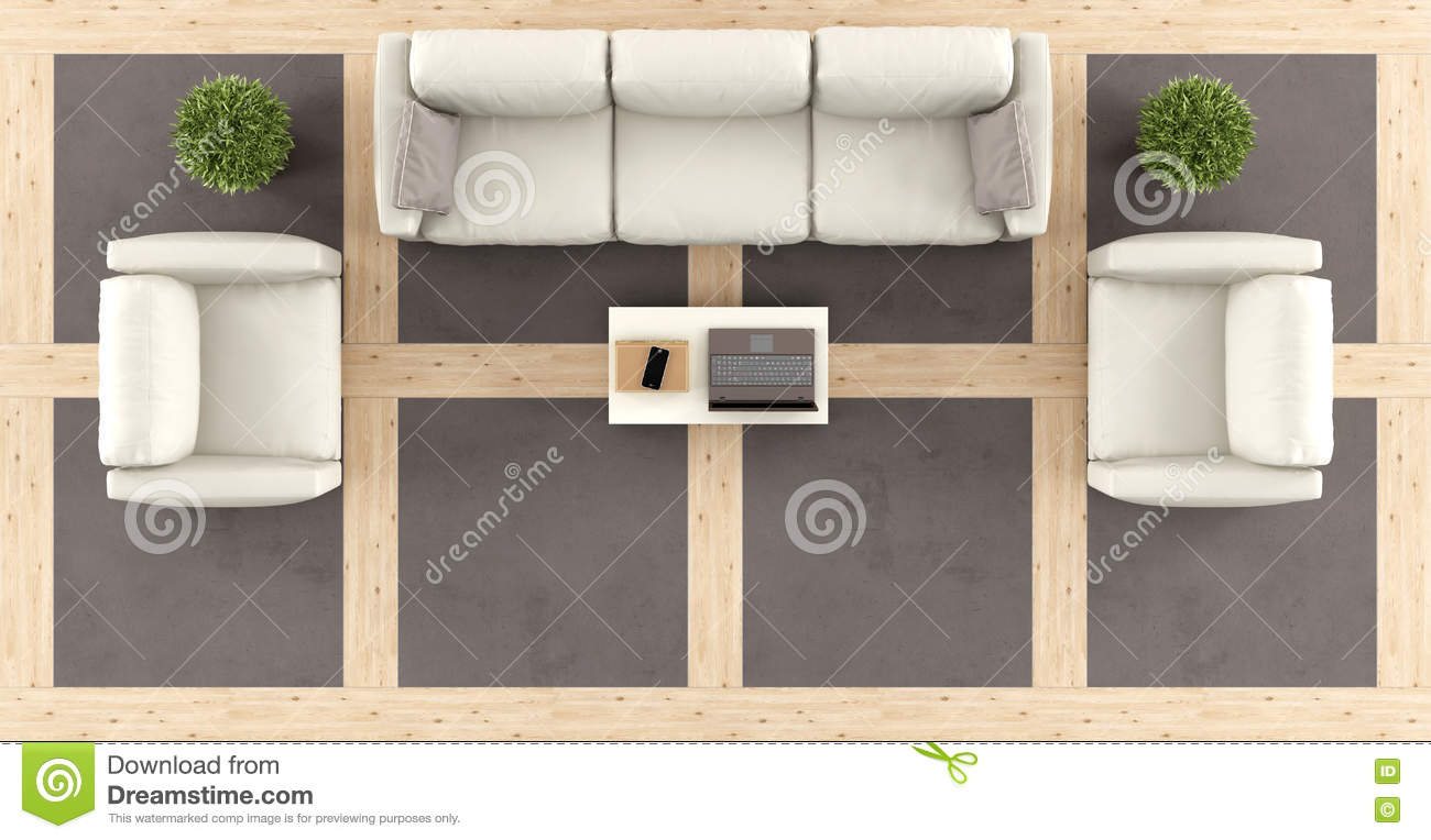 living room top view top view of a modern living room stock illustration 14256