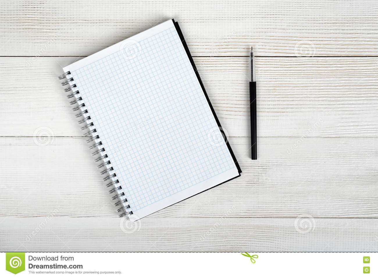 Notebook And Pen Sketch Stock Vector Art More Images Of: Top View Of Open Empty Notebook And Black Pen. Stock Photo