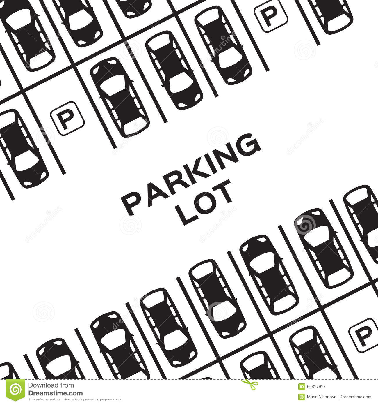 top view parking lot stock vector