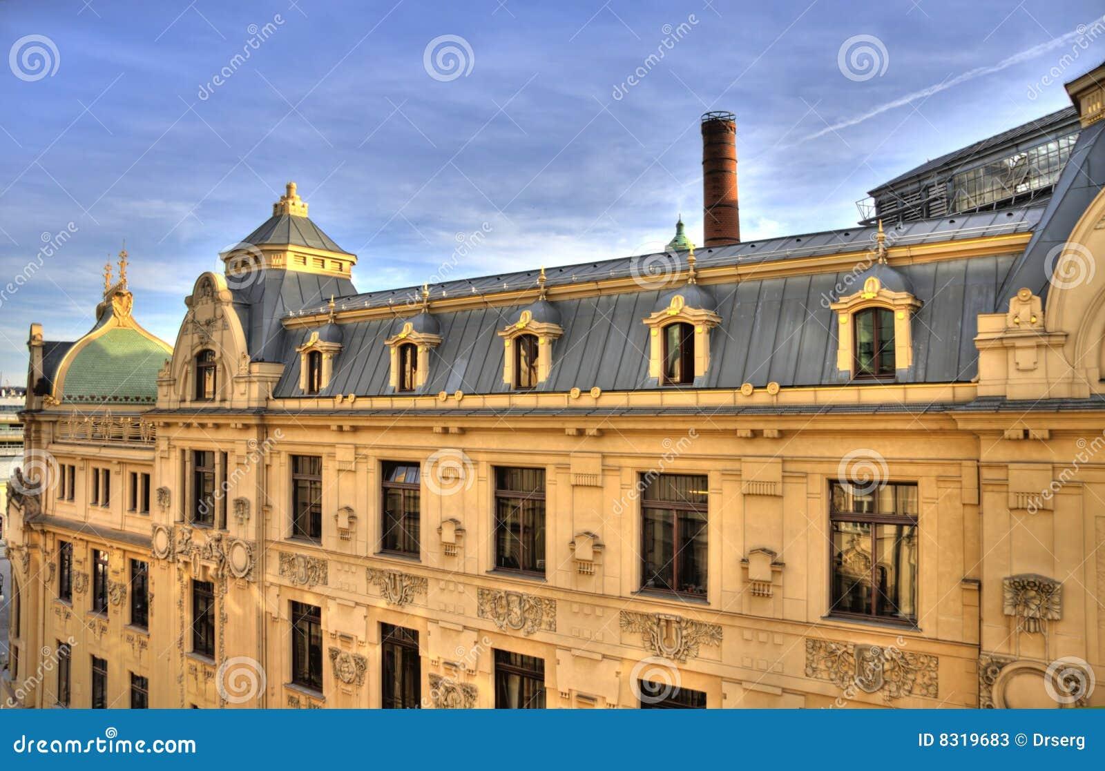 Top view on prague 39 s municipal house obicni dum stock for Top ten prague