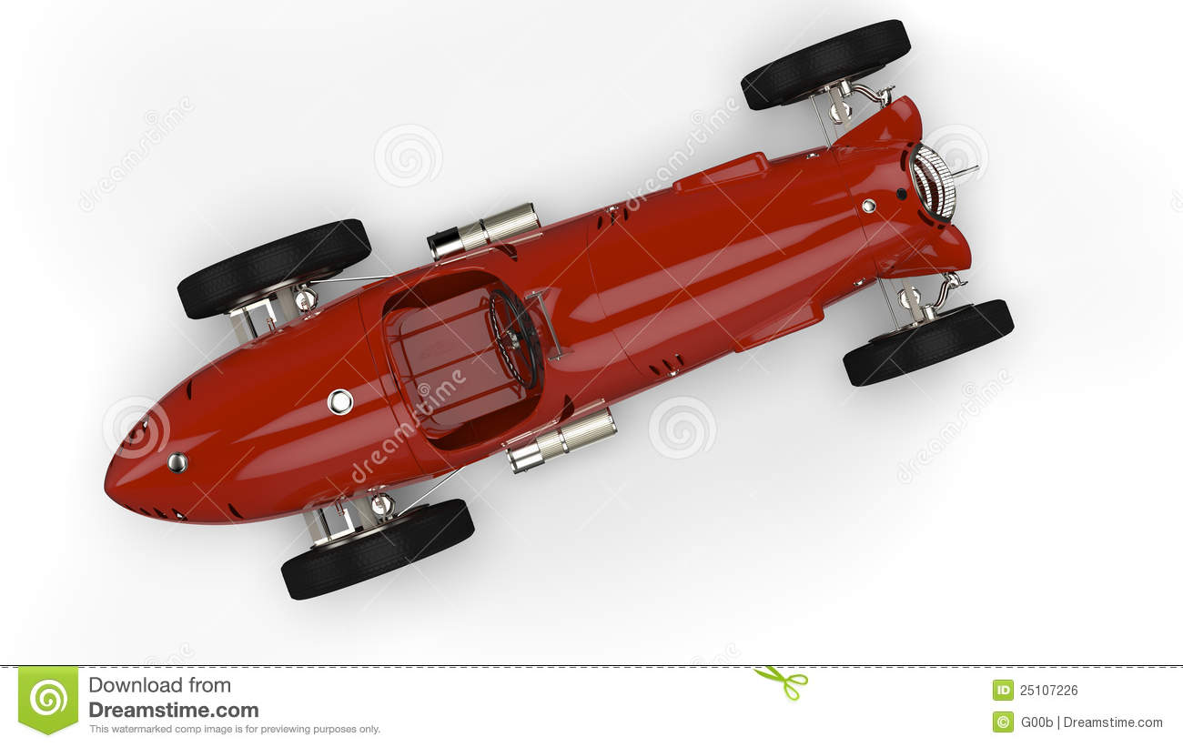 Top View Of A Red Old Race Car Royalty Free Stock Image Image