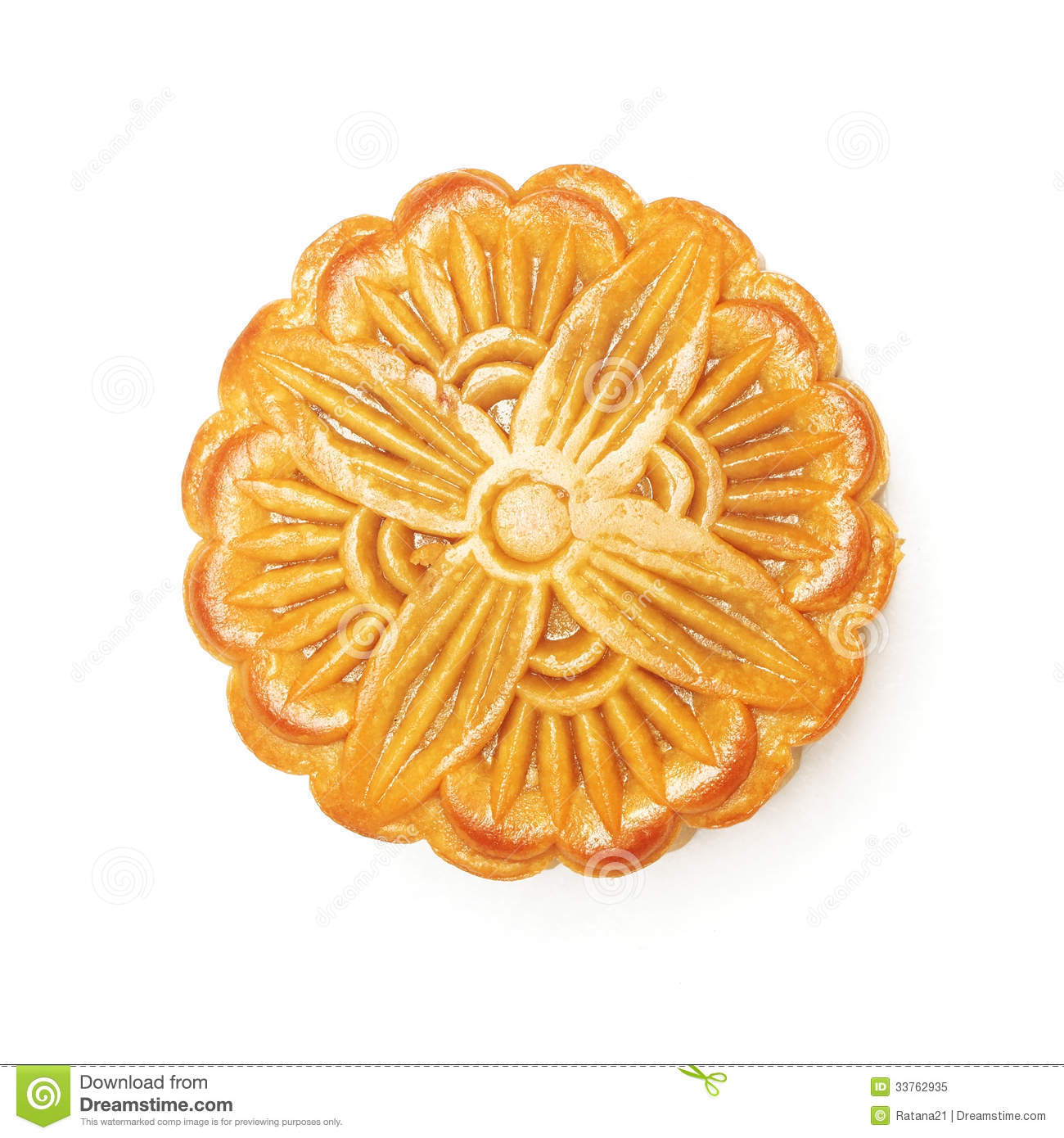 Top View Of Round Chinese Moon Cake Royalty Free Stock ...