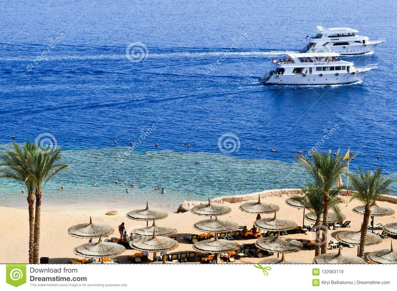 Sun Loungers On Cruise Ship Royalty Free Stock Image