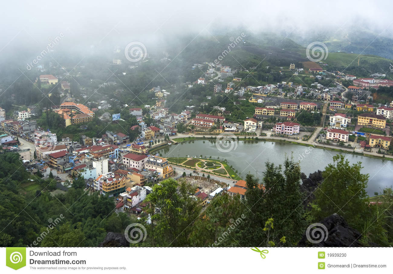 Top View Of Sapa Vietnam Stock Photo Image 19939230