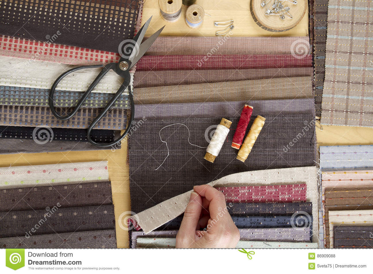 Hand Quilting Royalty Free Stock Image