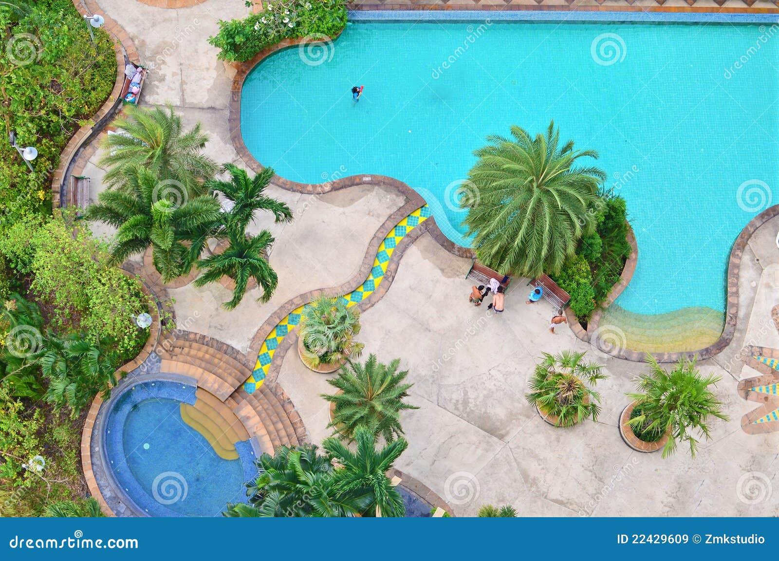 Swimming pool plan view