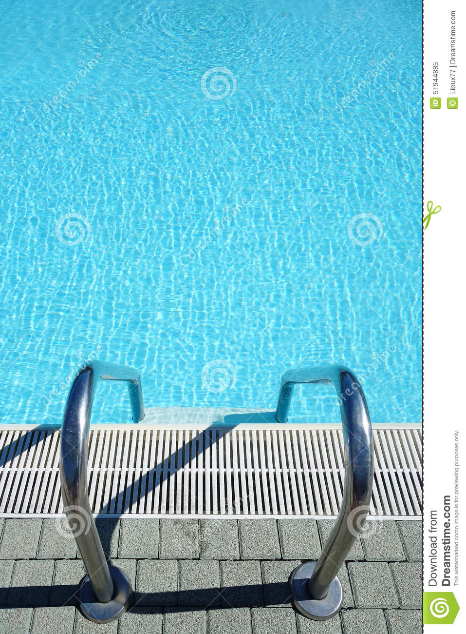 Top view swimming pool water ladder stock image image - Waterford crystal swimming pool times ...