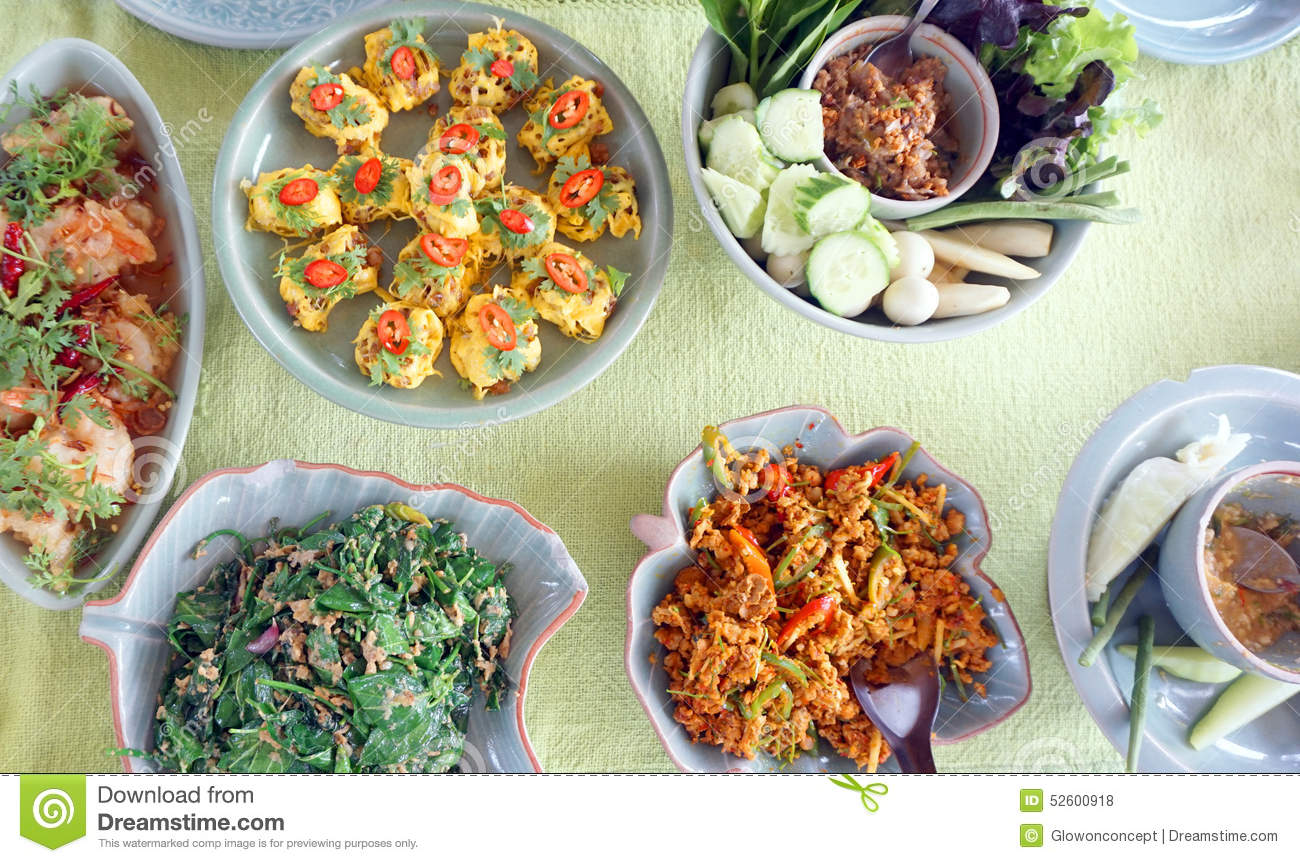 Top view of thai cuisine dishes famous international food - Best international cuisine ...