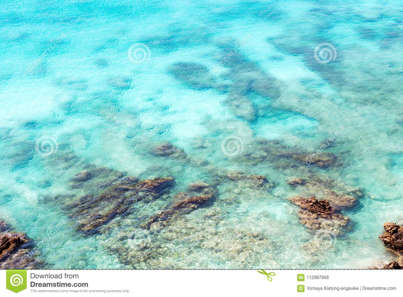 Sea surface wit rock aerial