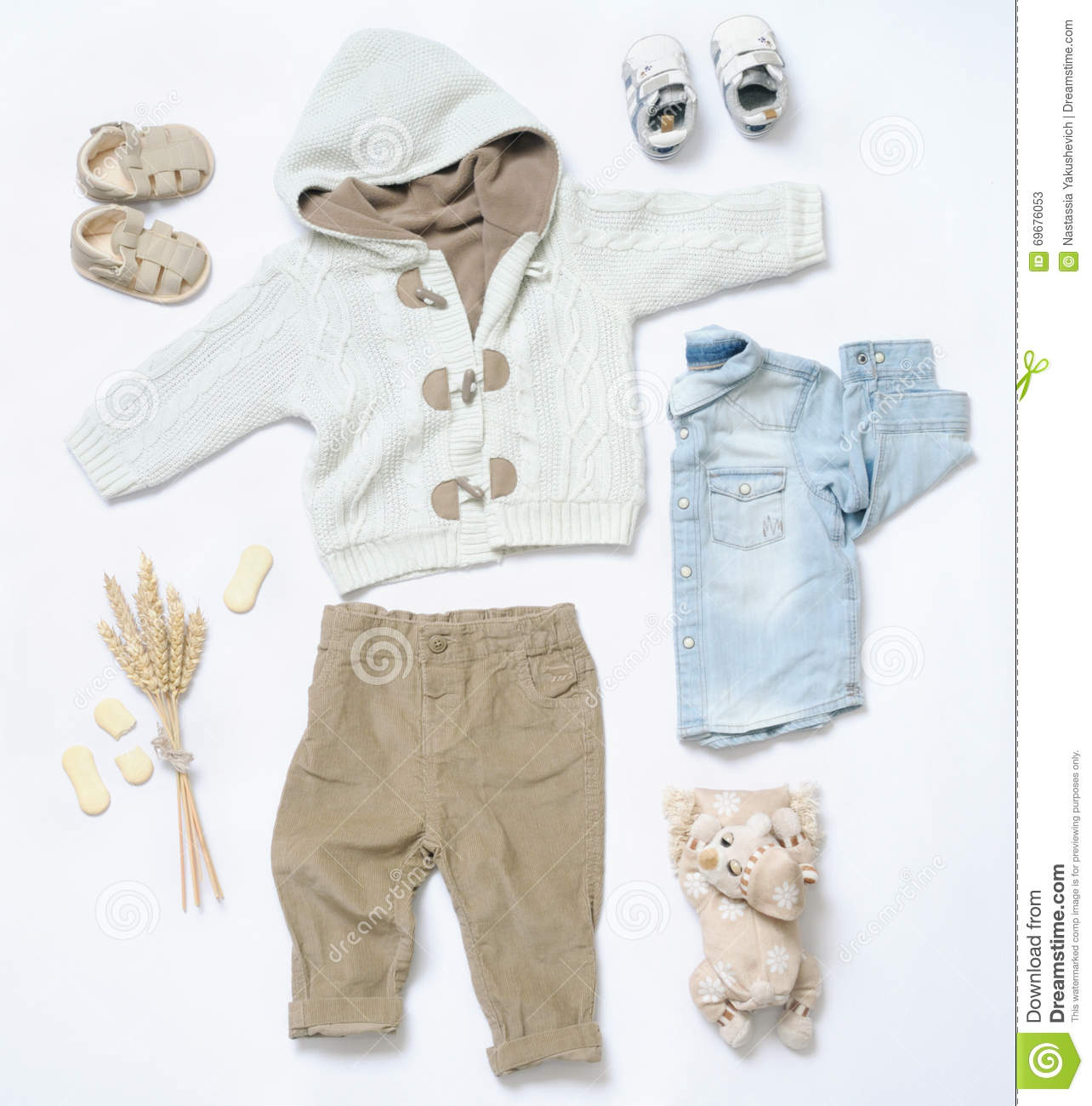 Fashion Toys For Boys : Top view fashion trendy look of baby boy clothes and stuff
