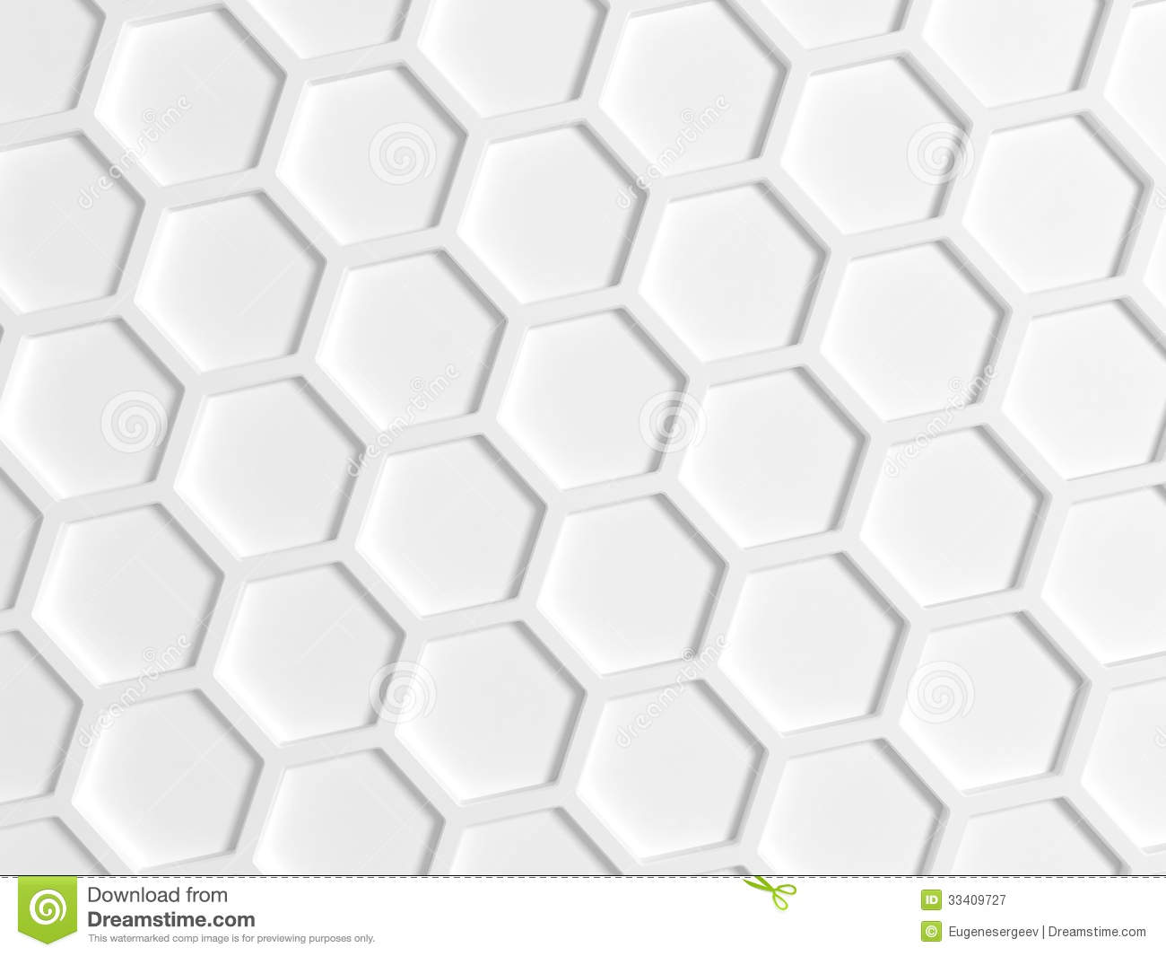 Top View Of White Honeycomb Pattern Stock Illustration ...