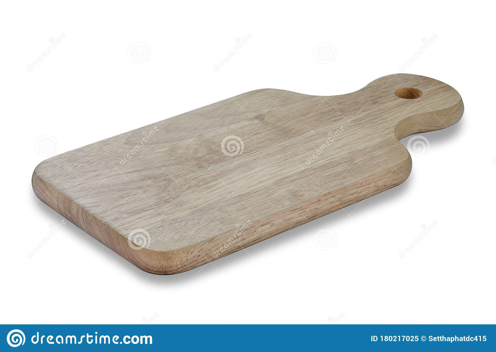 Top View Of Wood Cutting Board With Handles And Hole For Hanging Stock Image Image Of Linen Cook 180217025