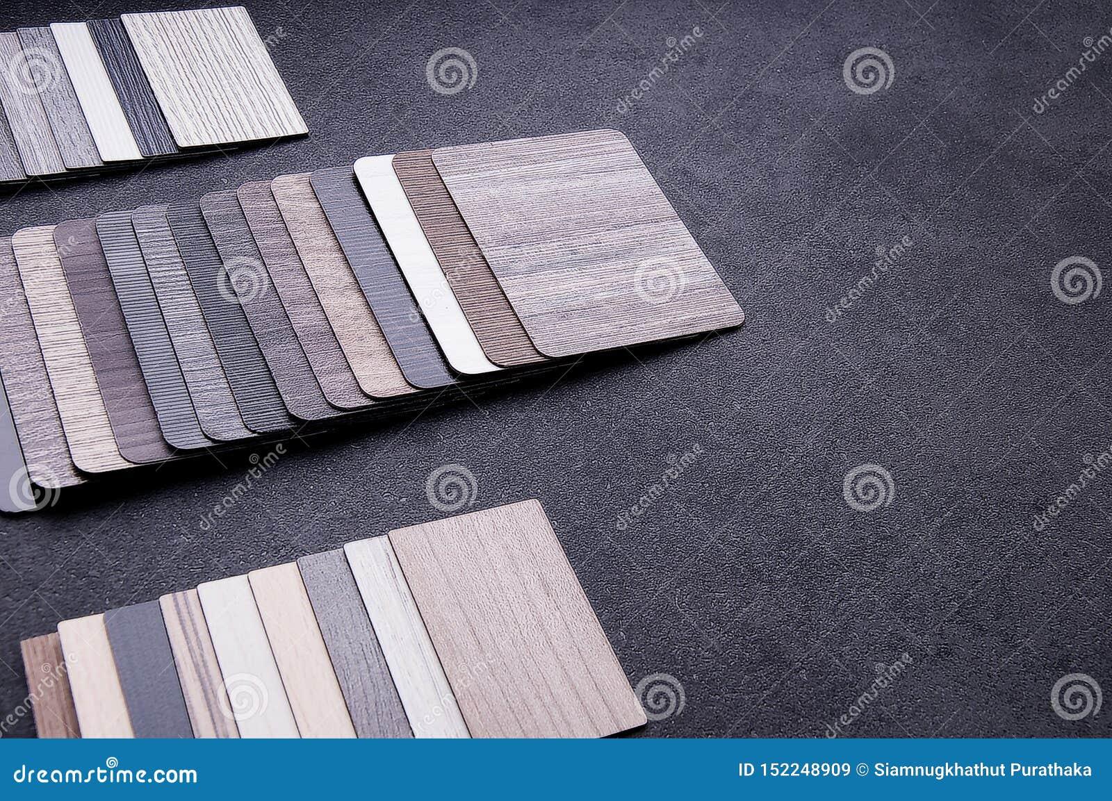 Interior Material Design Concept Wood Texture Floor Samples