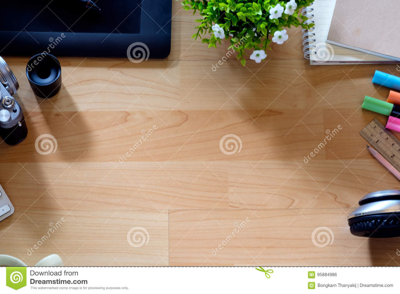 top office table cup. Royalty-Free Stock Photo Top Office Table Cup
