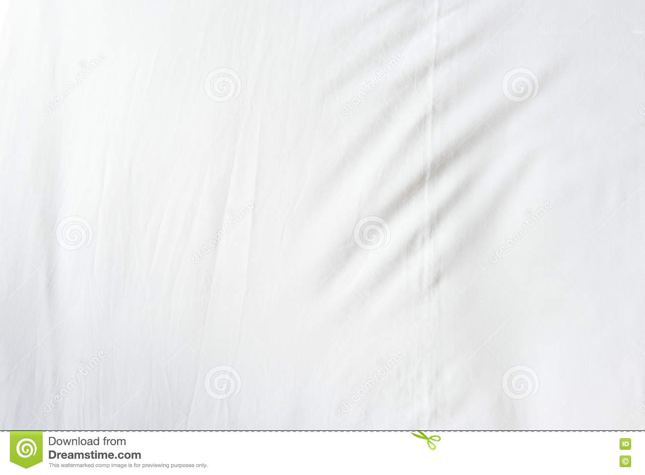 Top View Of Wrinkles On An Unmade Bed Sheet After A Long