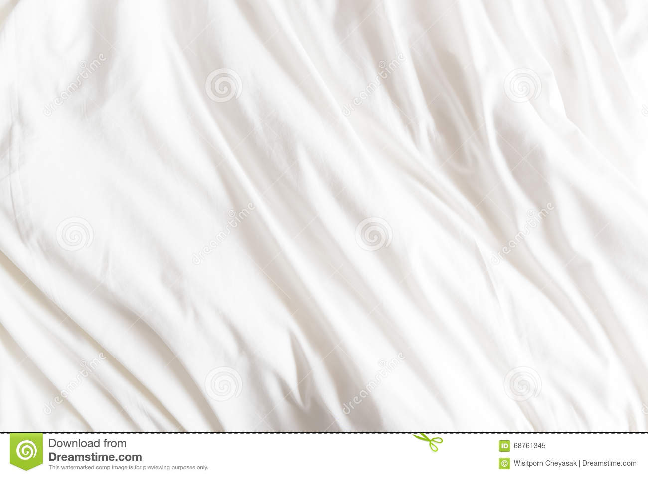 Rumpled bed sheet - Top View Of Wrinkles On An Unmade Bed Sheet Royalty Free Stock Photo