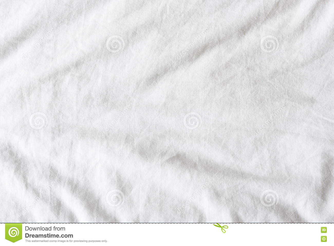 White bed top view - Top View Of Wrinkles On An Untidy White Bed Sheet In A Bedroom
