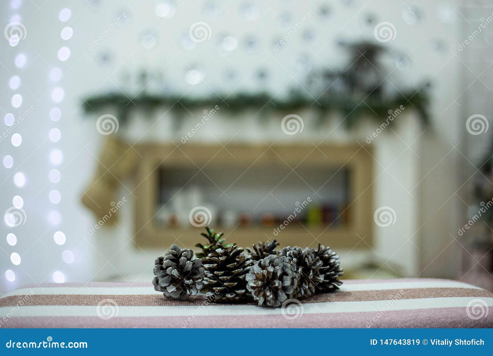 Topetones en un fondo de la Navidad