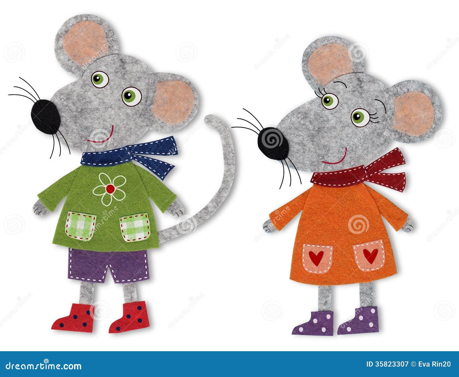 Cartone animato divertente topo con segno bianco u vettoriali
