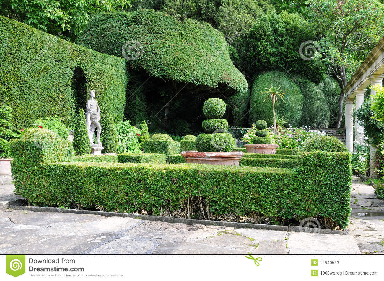 Topiary In A Formal Garden Stock Photos - Image: 19640533
