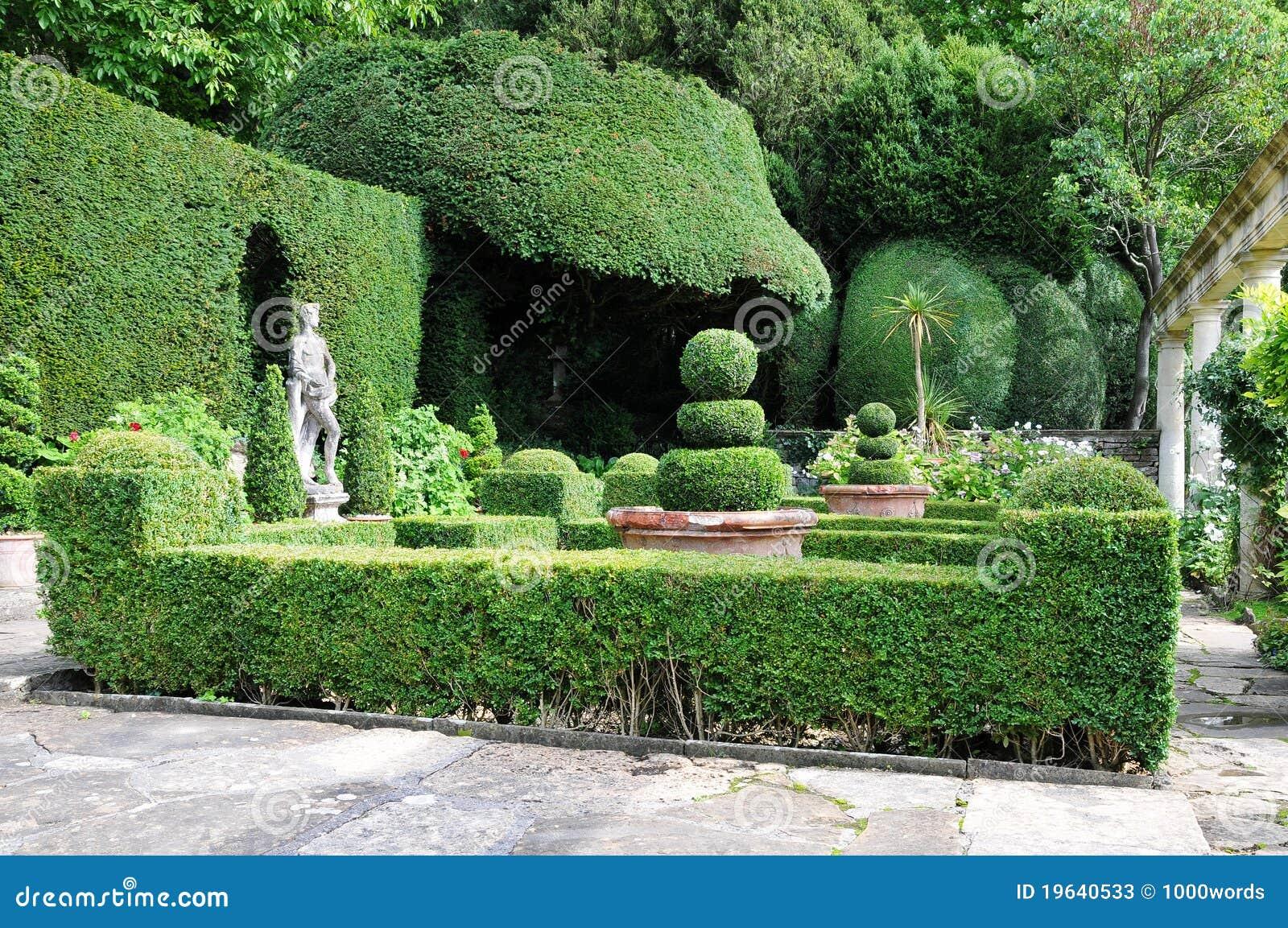 Topiary In A Formal Garden Stock Photos Image 19640533