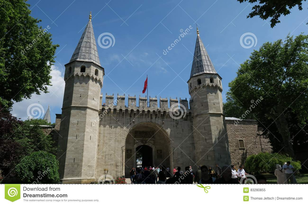 Topkapi Palace Museum in Istanbul - The Gate of Salutation is the Main Entrance