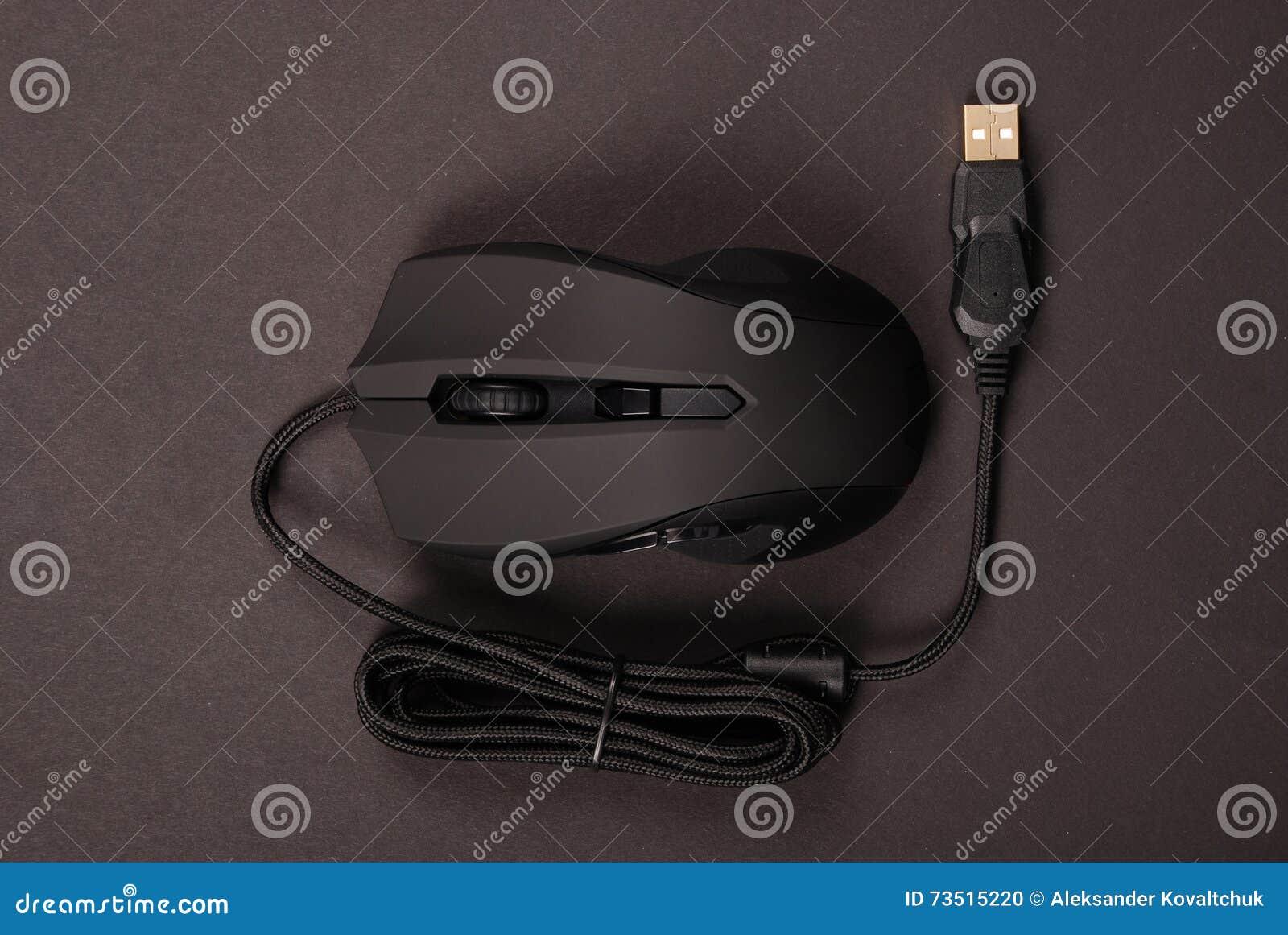 Topo ottico del computer nero
