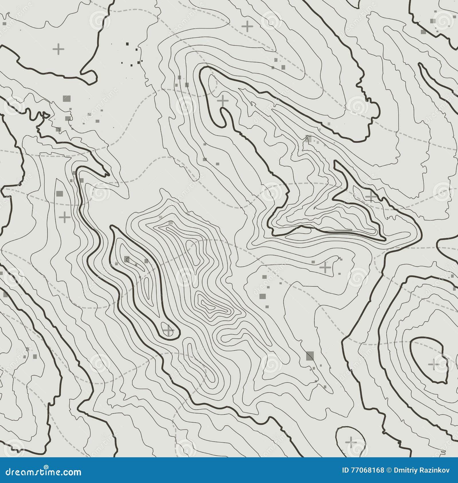 Topografisch kaartconcept als achtergrond met ruimte voor uw exemplaar De kunstcontour van topografielijnen, berg wandelingssleep