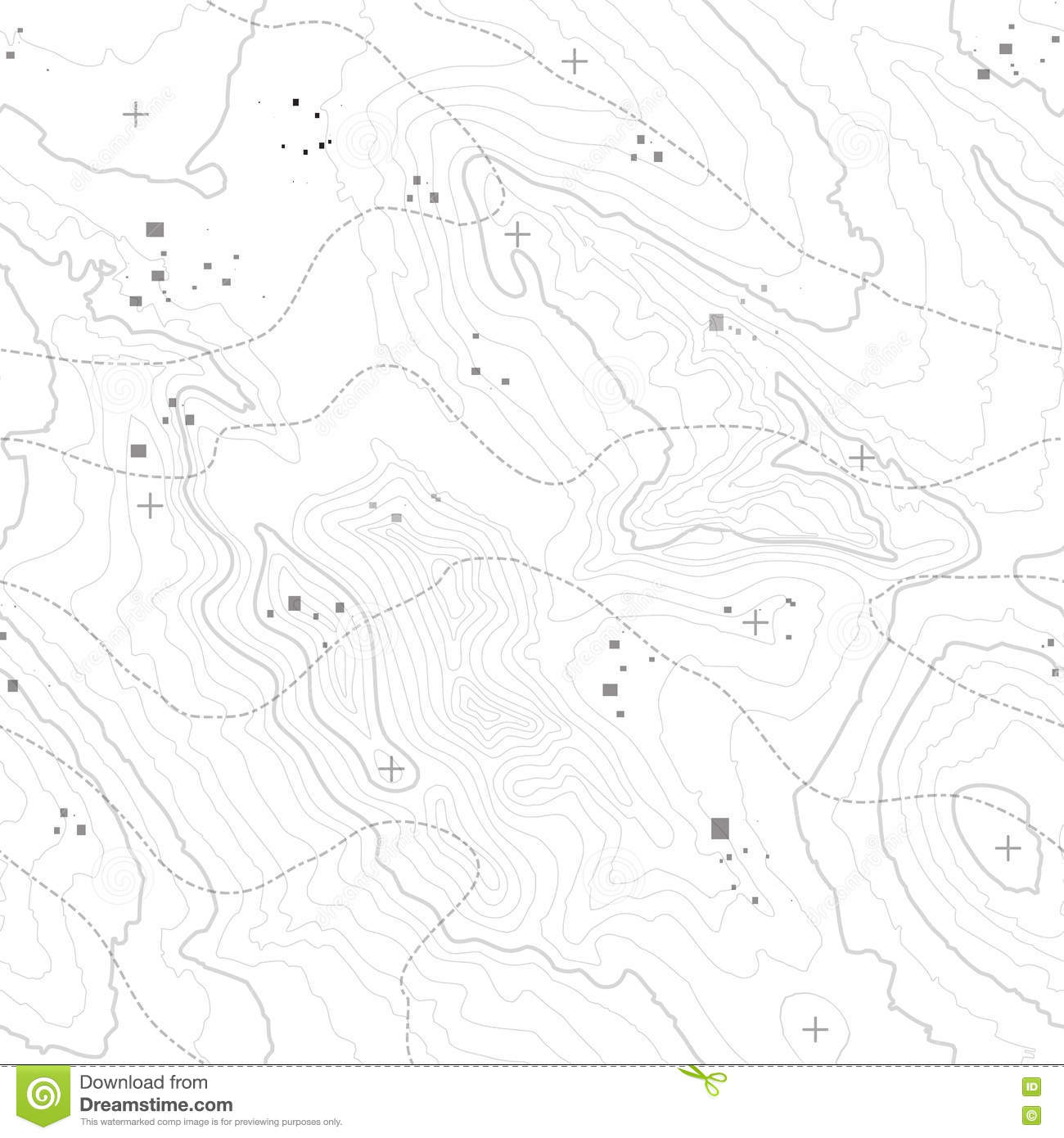 Topographic Map Background Concept With Space For Your Copy
