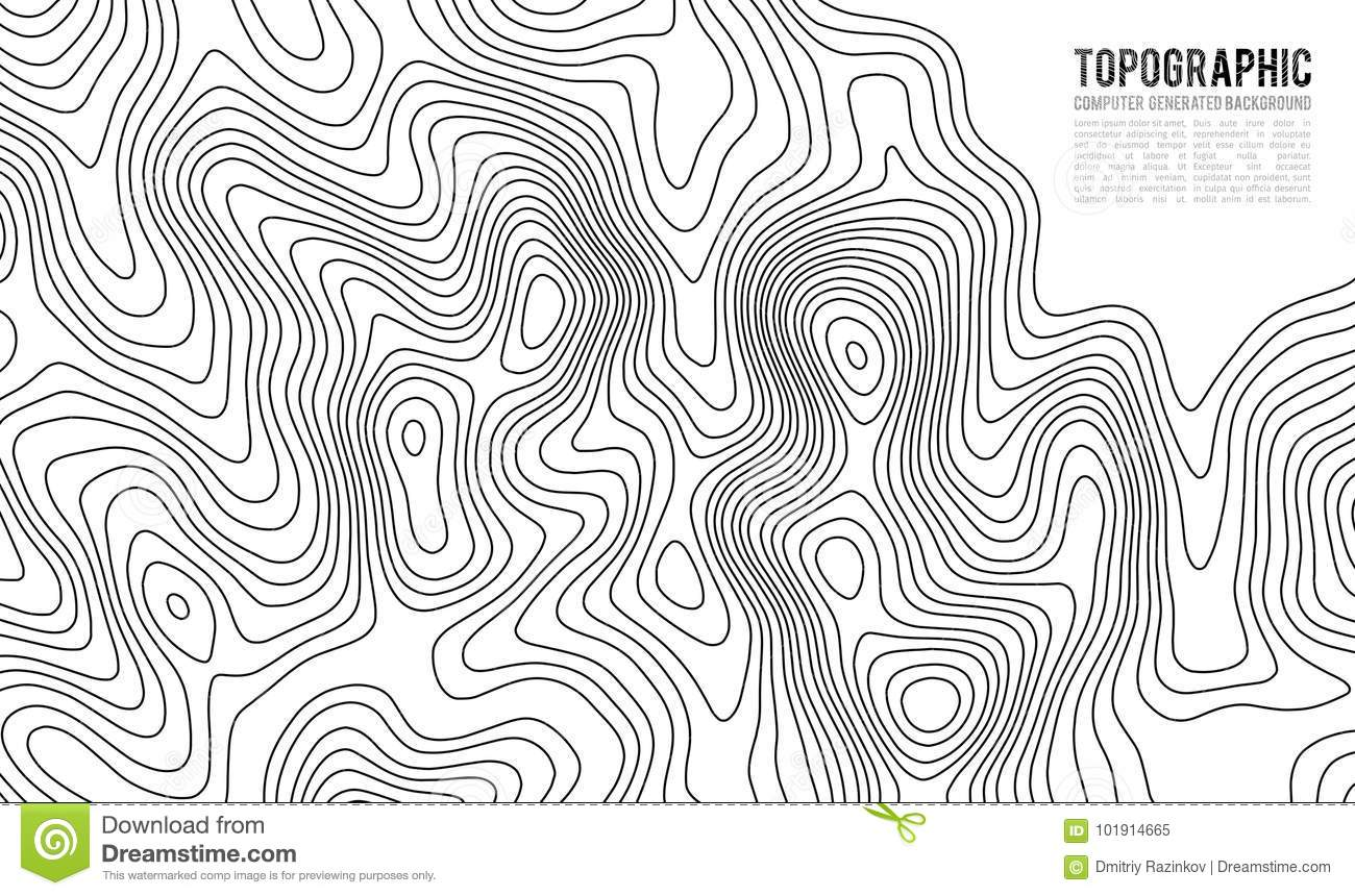 Topographic Map Contour Background Topo Map With Elevation Stock