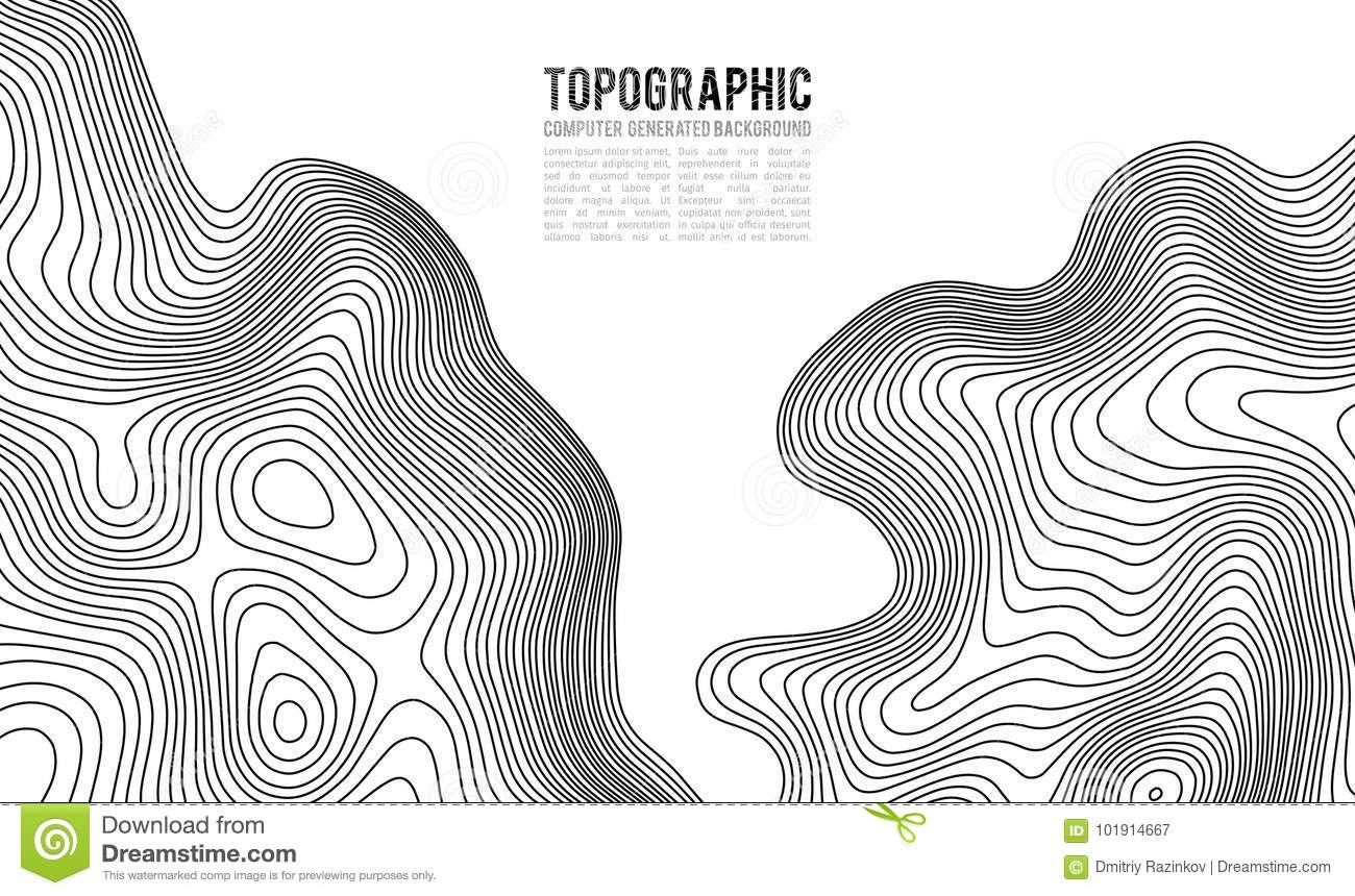 Topographic Map Game.Topographic Map Contour Background Topo Map With Elevation Stock