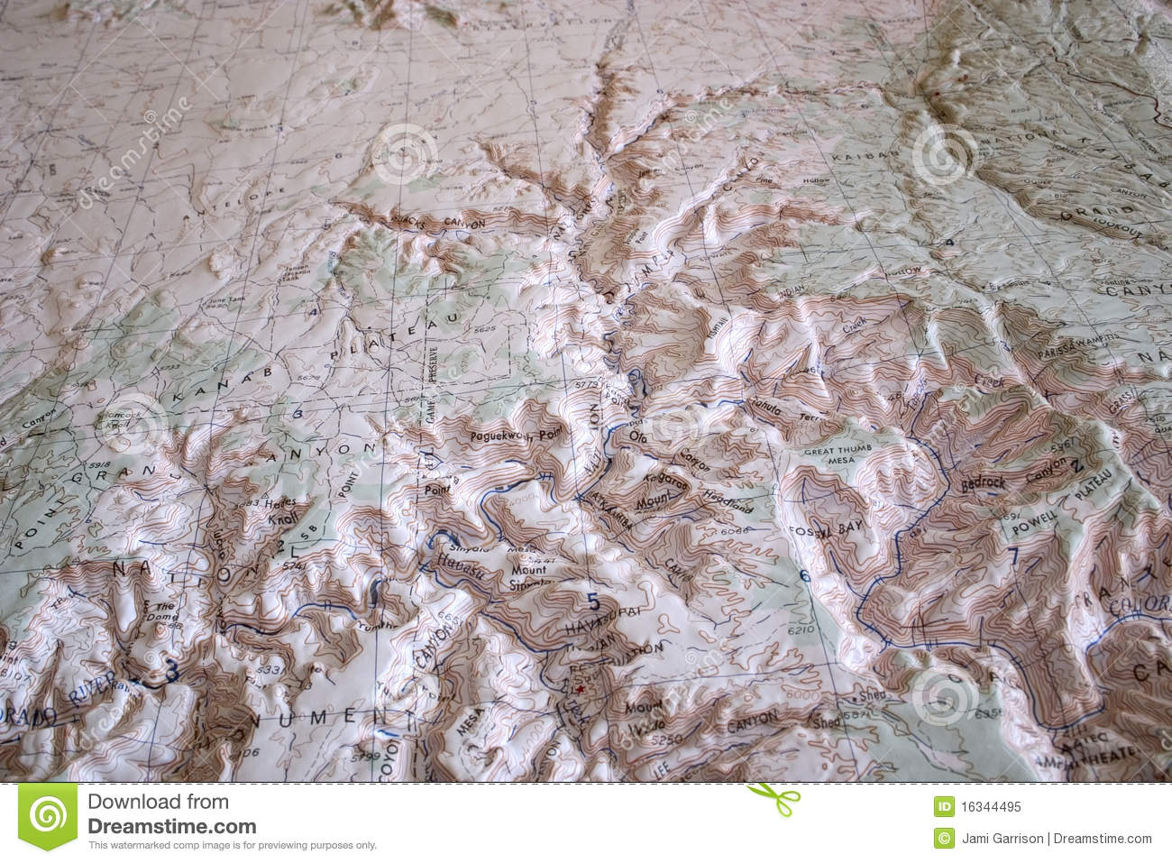 Topographic Map Grand Canyon.Topographic Map Of Grand Canyon Stock Image Image Of Relief