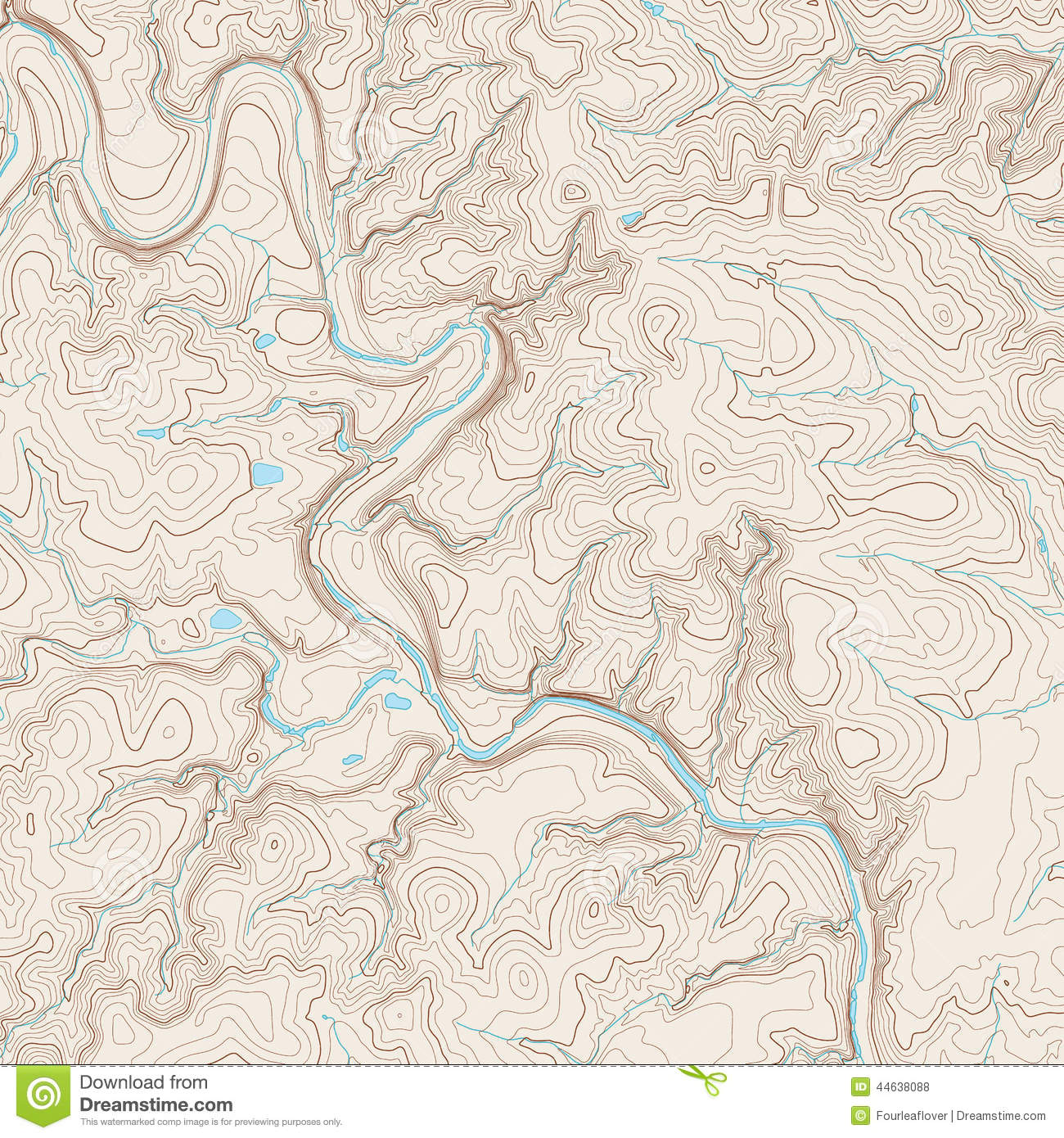 Topographic Map stock vector. Illustration of land, relief - 44638088