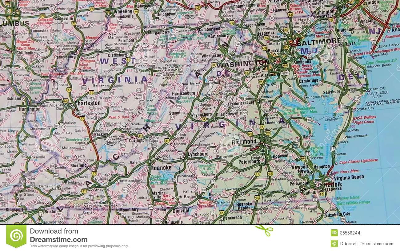 Topographical Map Of The USA. East Seaboard Stock Video ...