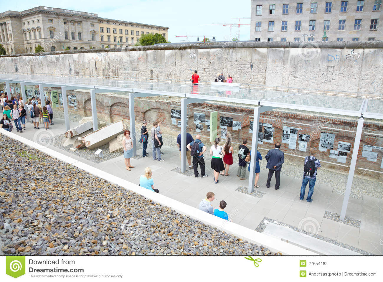 Topography of terror holocaust museum in berlin stock photography