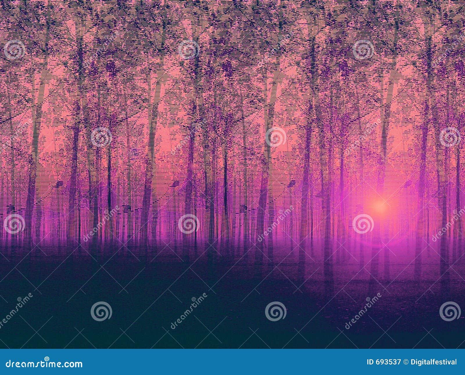 Topolowi artystyczny krajobraz pomalowane drzewa