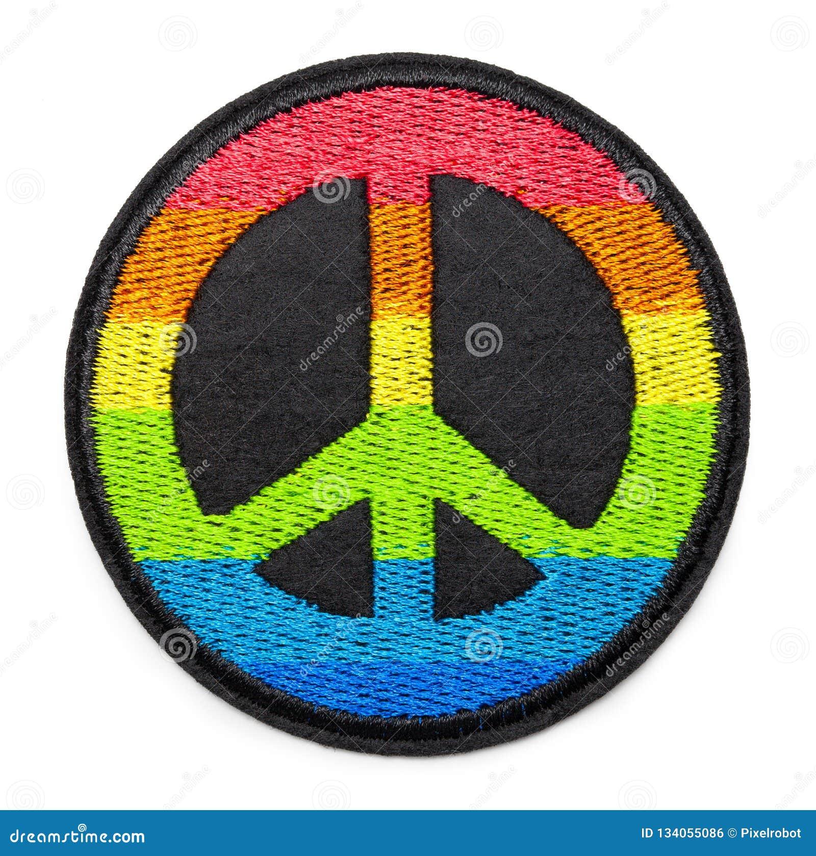 Toppa di pace dell arcobaleno