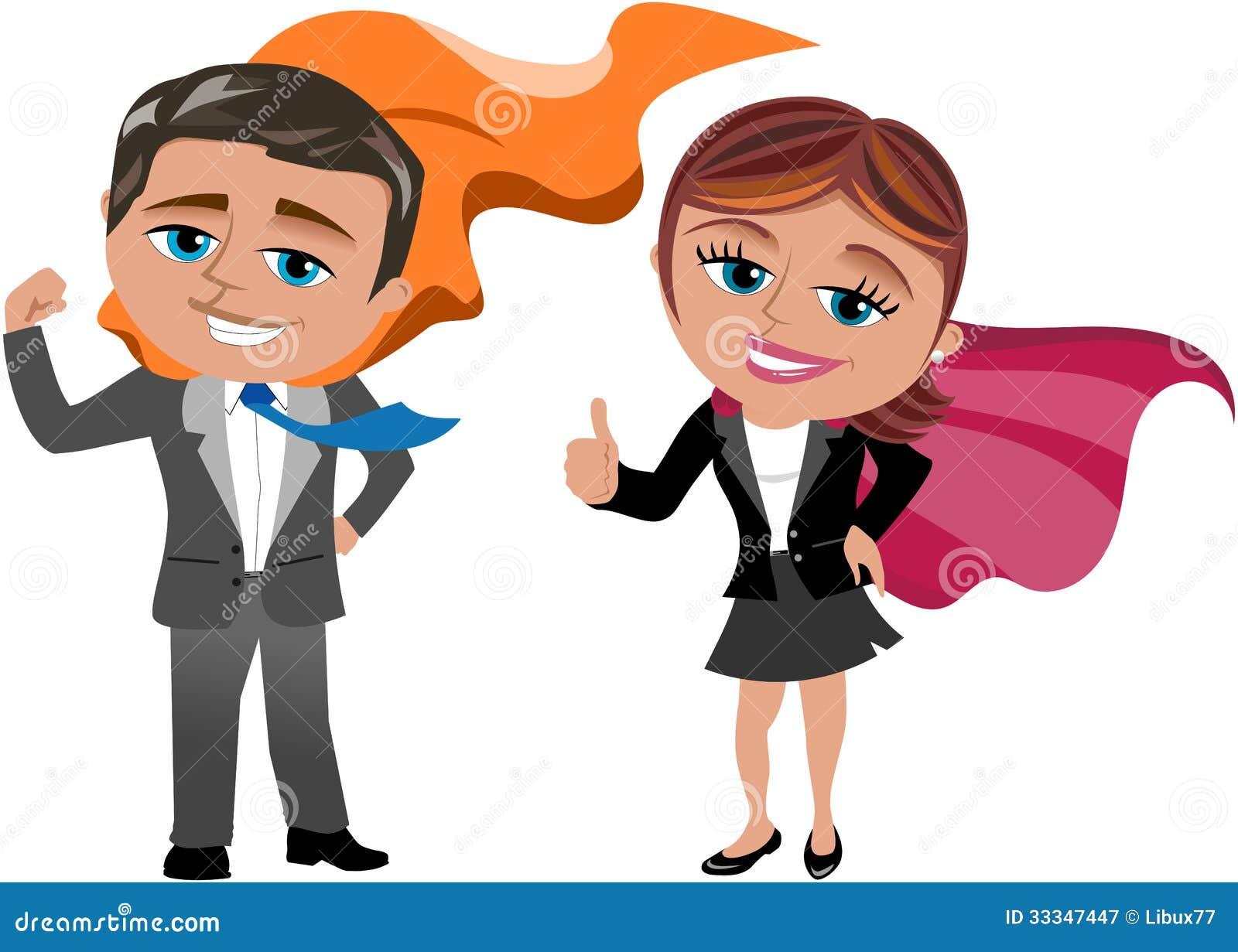 Toppen affärsman och kvinna
