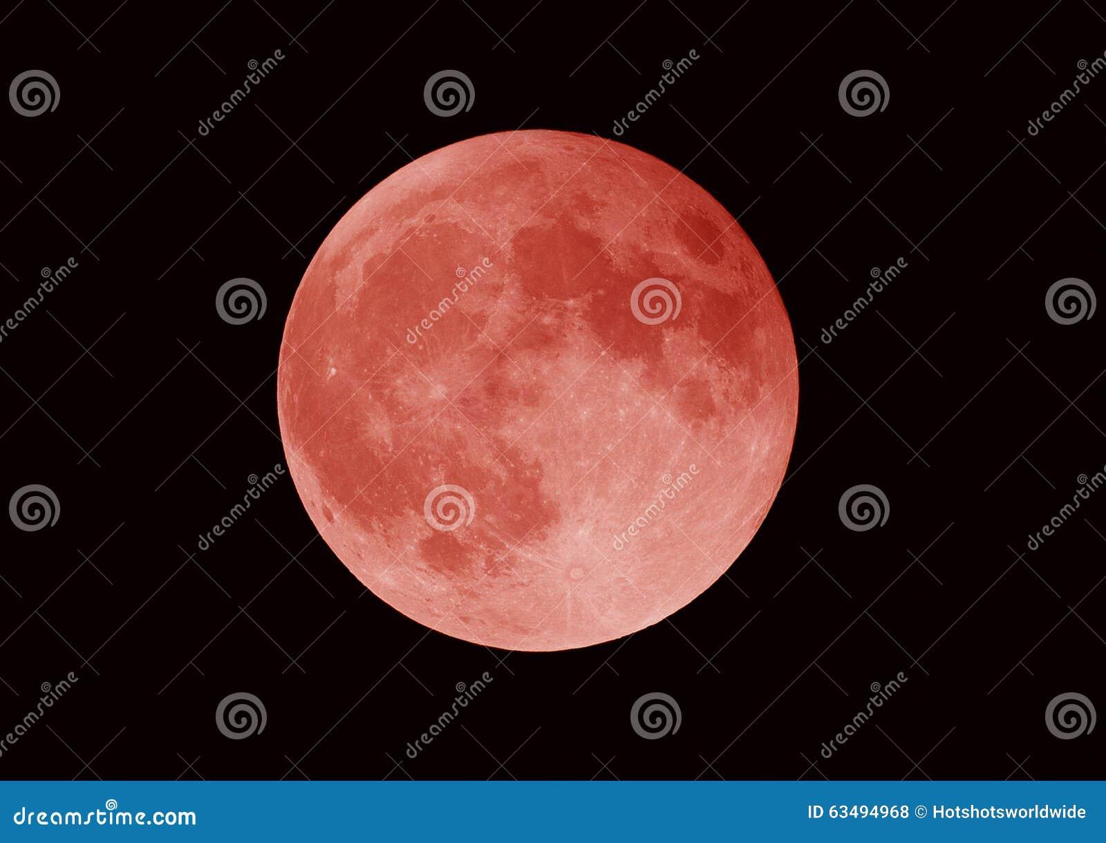 Toppen blodmåne, månförmörkelse, Los Angeles, Kalifornien
