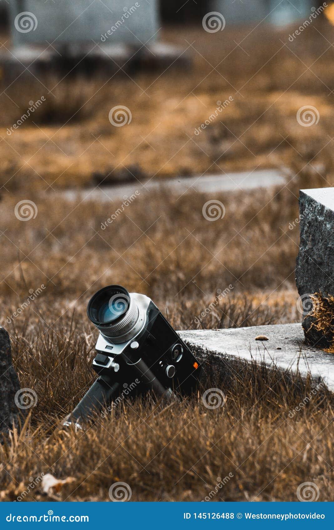 Toppen kamera 8 för tappning i kyrkogård