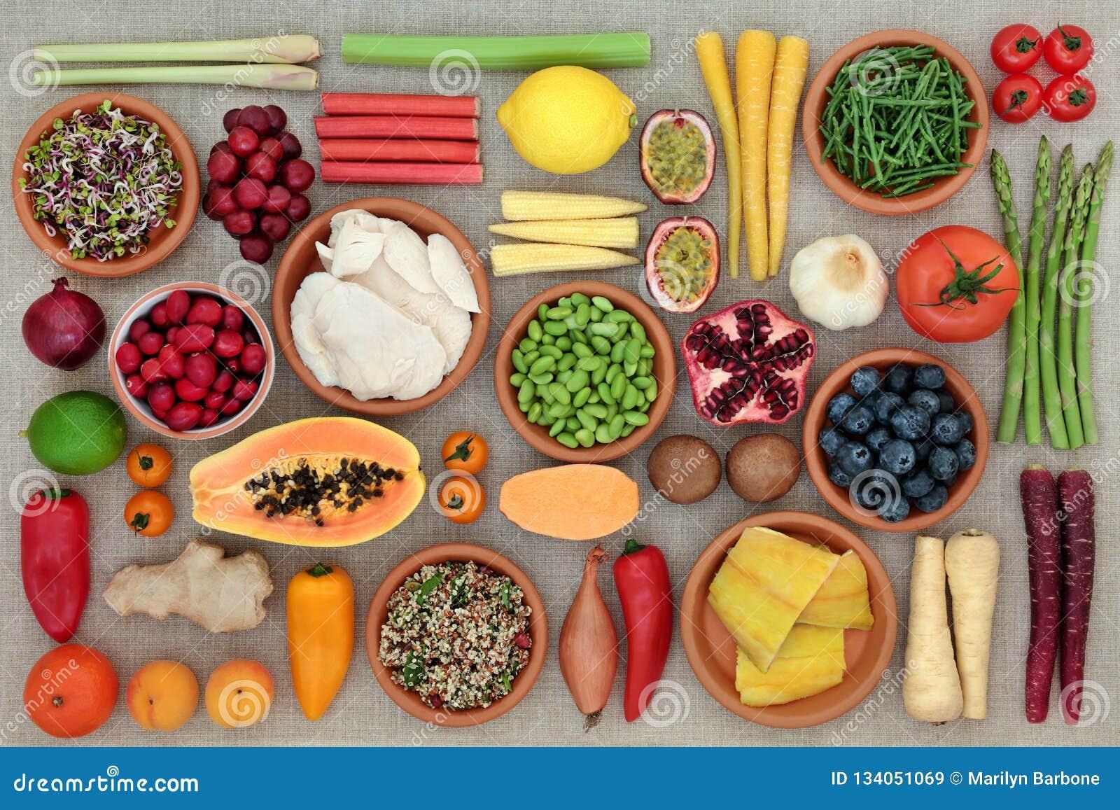 Toppen mat för kondition
