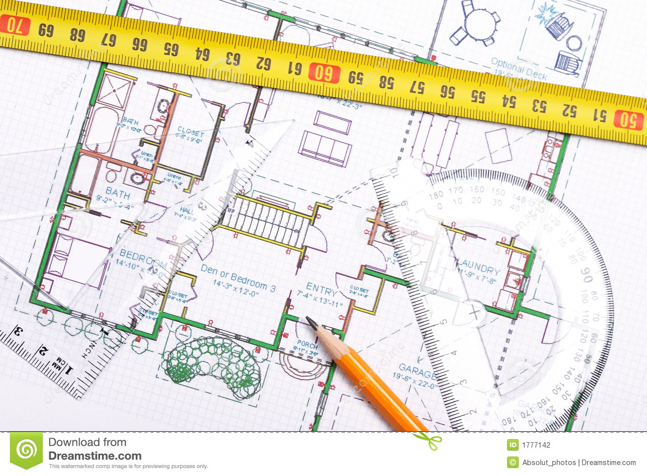 Topview Of Floor Plan Stock Photography Image 1777142