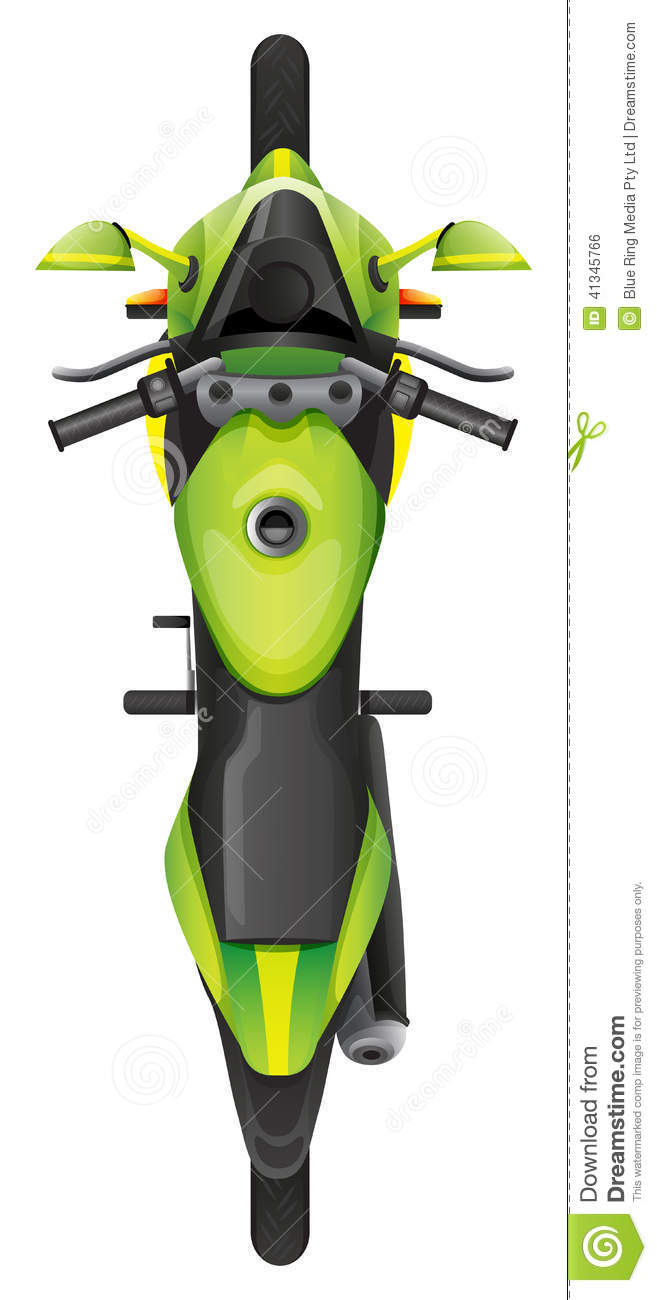 A Topview Of A Motorcycle Stock Vector Image 41345766