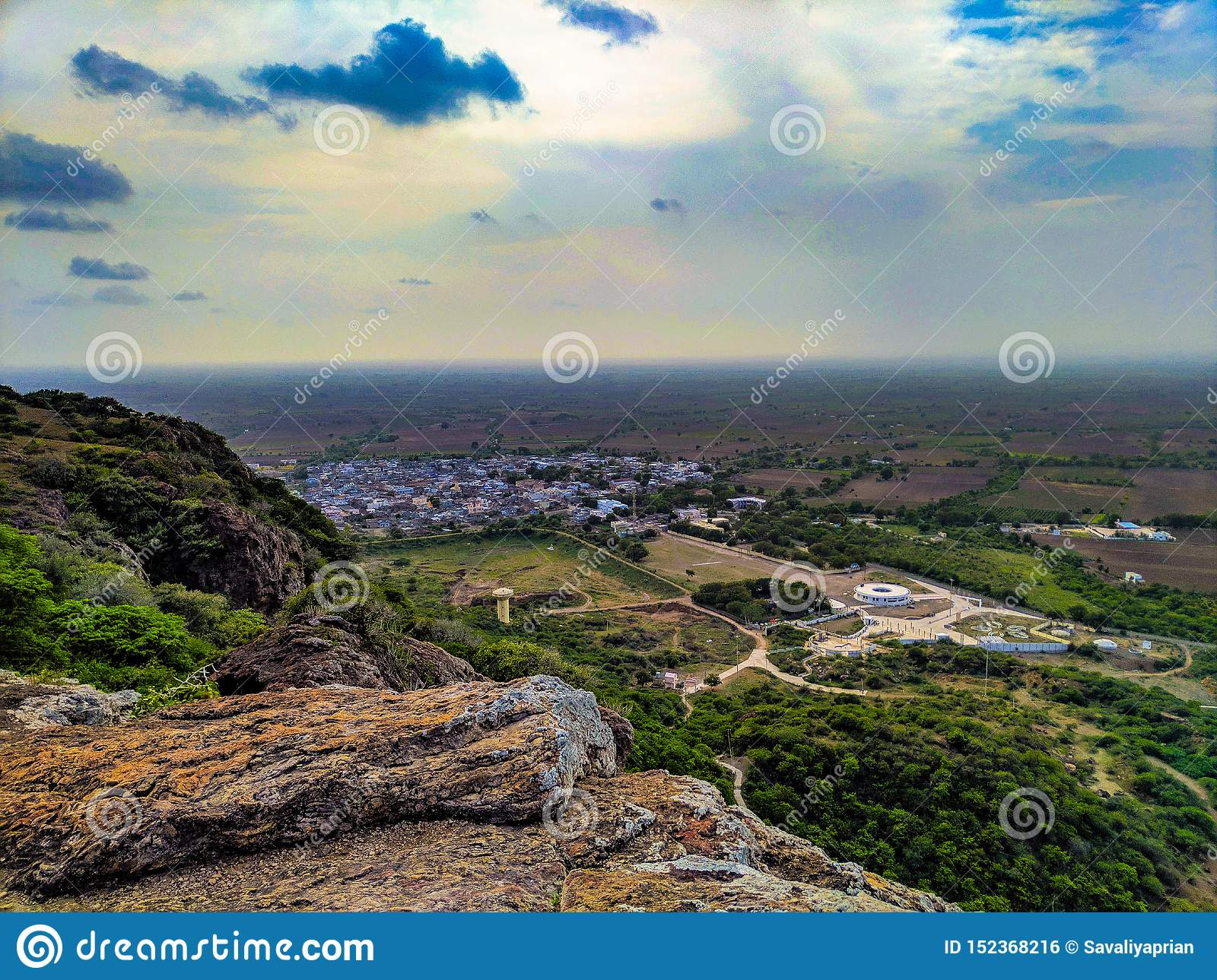 Topview from mountain