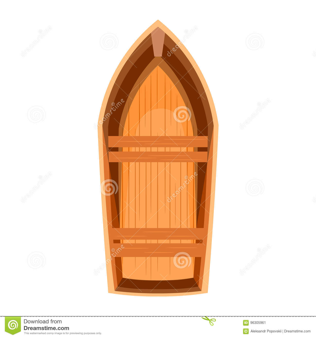 Topview Of A Wooden Boat Stock Image