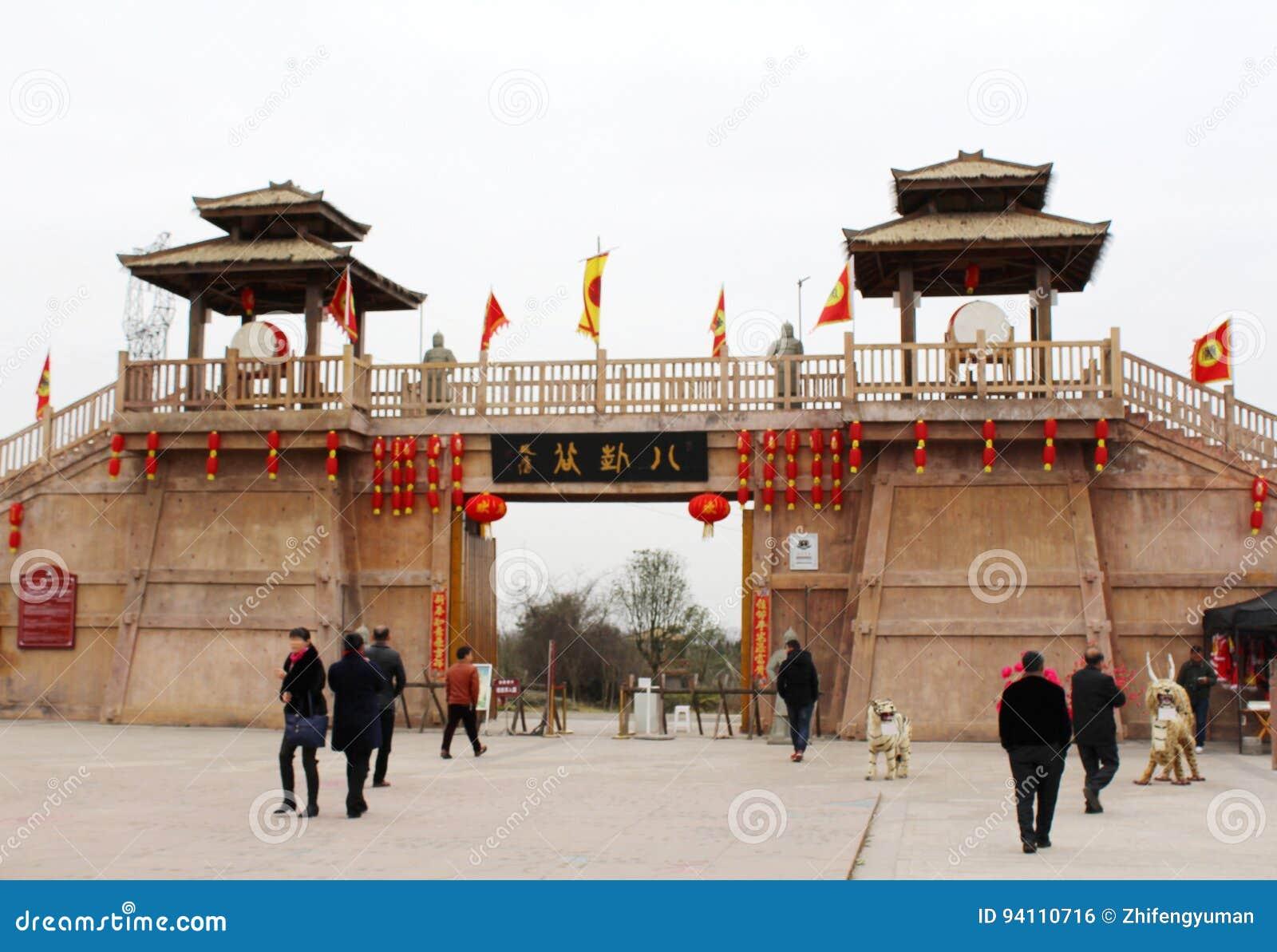 Tor-Turm von altem China